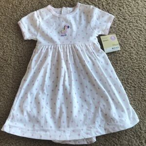 Carter's baby girl's onesie dress 9 months